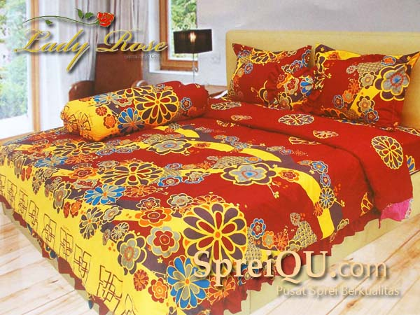 harga bedcover lady rose 2