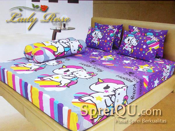 Sprei Lady Rose Hello Kitty Unicorn Queen 160×200