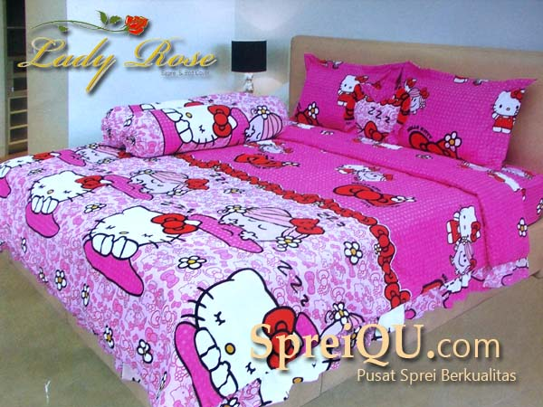 bed cover lady rose hello kitty pink 180 200