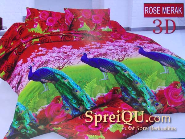 Sprei Bonita Rose Merak Queen 160×200