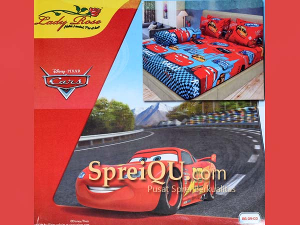 Sprei Lady Rose Cars Queen 160x200