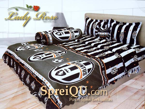 Bed Cover Lady Rose Juventus Spreiqu Sidoarjo