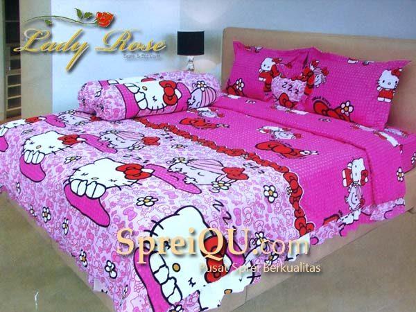 Sprei Rumbai Lady Rose Hello Kitty Pink 180×200