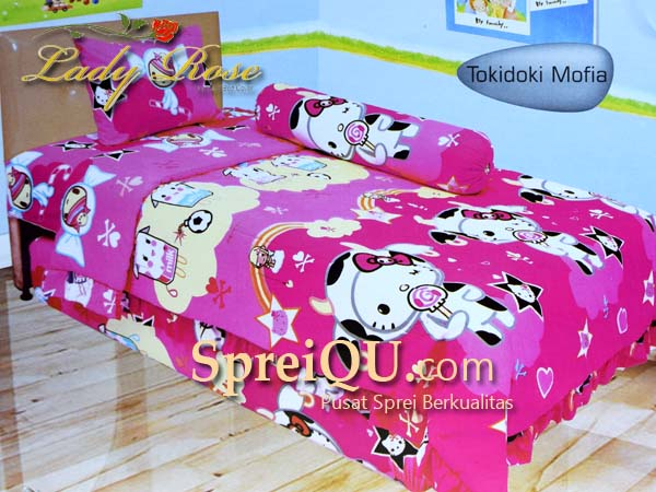 Superieur Bed Cover Lady Rose Tokidoki Mofia Single 120×200