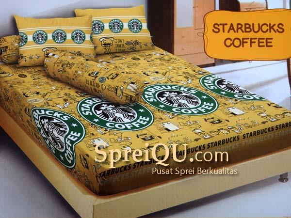 Sprei Santika Kintakun D'luxe Starbucks Coffee King 180×200