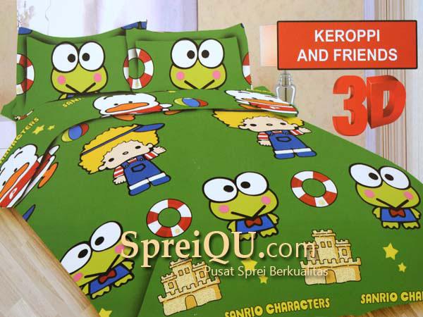 Sprei Bonita Keroppi And Friends 3D King 180×200