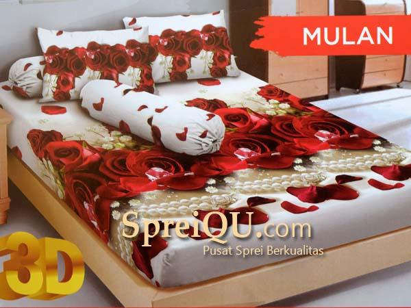 Sprei Santika Kintakun D'luxe Mulan 3D Queen 160×200