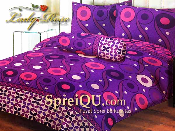 Sprei Lady Rose Lembayung Queen 160×200