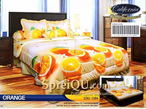 Rp 455,000 Rp 445,000; Sprei California Orange King 180x200