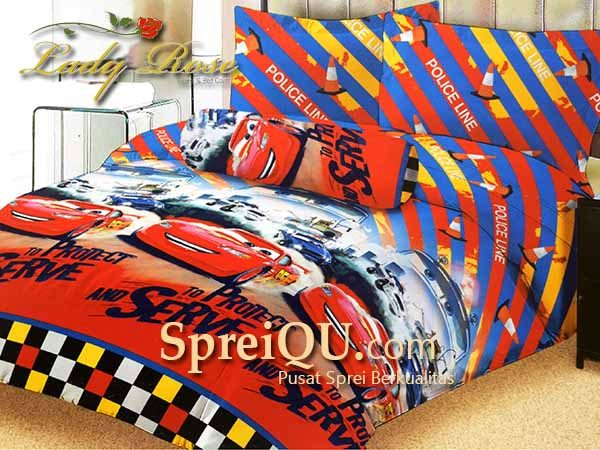 Sprei Lady Rose Cars 2 Queen 160x200