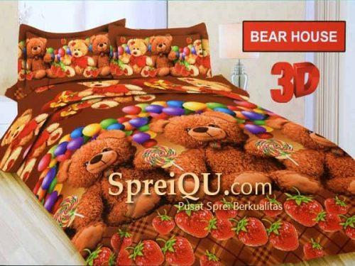 Sprei Bonita Bear House 3D Queen 160x200