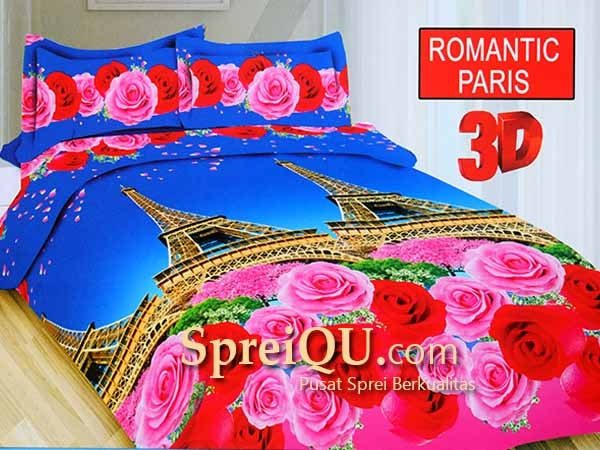 Sprei Bonita Romantic Paris 3D Queen 160×200