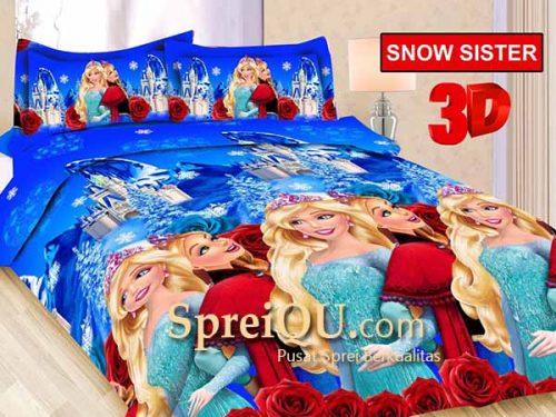 Sprei Bonita Snow Sister 3D King 180x200