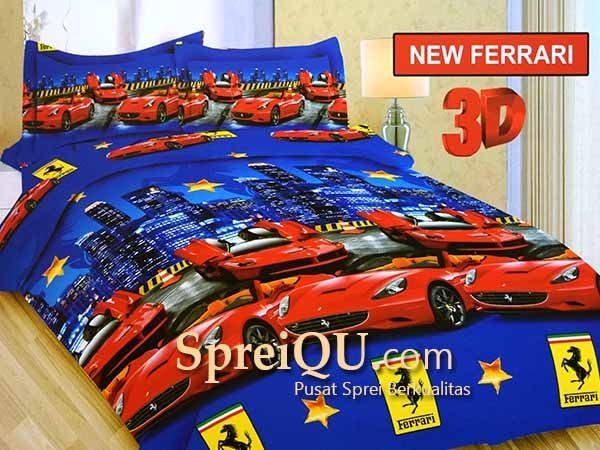 Sprei Bonita New Ferrari 3D Queen 160x200