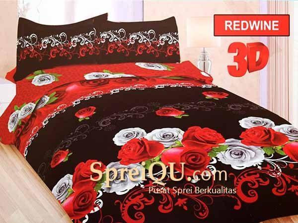 Sprei Bonita Redwine 3D Queen 160x200