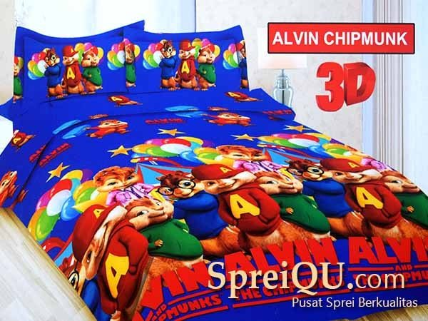 Sprei Bonita Alvin Chipmunk 3D Single 120×200