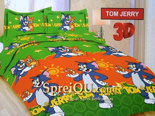 Sprei Bonita Tom Jerry 3D Single 120×200