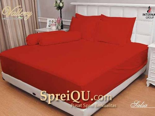 Sprei Vallery Quincy Salsa King 180x200