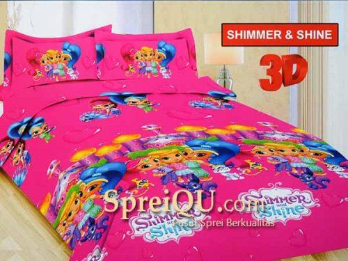 Sprei Bonita Shimmer And Shine 3D Single 120x200