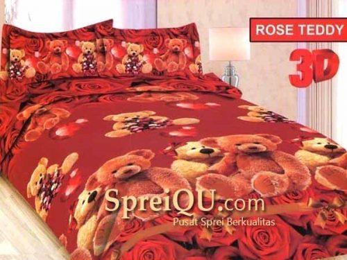 Sprei Bonita Rose Teddy 3D King 180x200