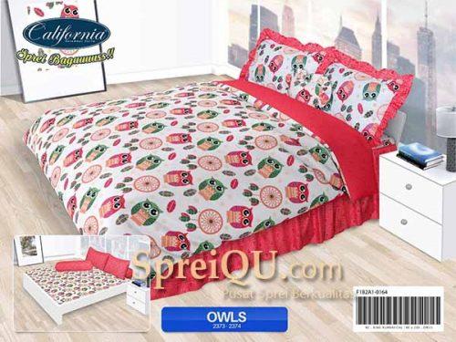 Sprei California Owls King 180x200